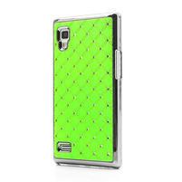 Drahokamové puzdro pre LG Optimus L9 P760- zelené