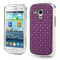 Drahokamové puzdro pre Samsung Trend plus, S duos- fialové