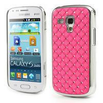 Drahokamové puzdro pre Samsung Trend plus, S duos- světlerůžové