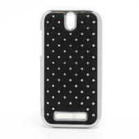 Drahokamové puzdro pre HTC One SV- čierné