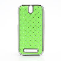 Drahokamové puzdro pre HTC One SV- zelené
