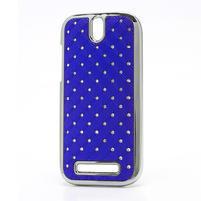 Drahokamové puzdro pre HTC One SV- modré