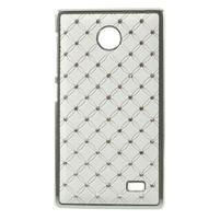Drahokamové puzdro na Nokia X dual- biele