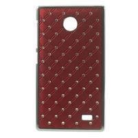 Drahokamové puzdro na Nokia X dual- červené