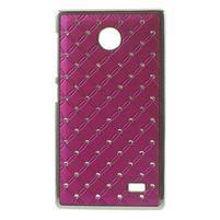 Drahokamové puzdro na Nokia X dual- růžové