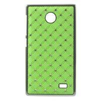 Drahokamové puzdro na Nokia X dual- zelené