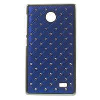 Drahokamové puzdro na Nokia X dual- modré