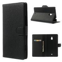 Peňaženkové puzdro pre Nokia Lumia 1320- čierné
