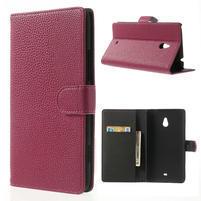 Peňaženkové puzdro pre Nokia Lumia 1320- ružové