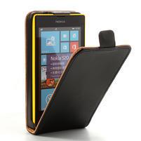 Flipové čierné puzdro na Nokia Lumia 520