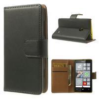 Peňaženkové puzdro na Nokia Lumia 520 - čierné