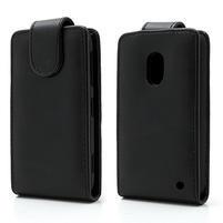 Flipové puzdro na Nokia Lumia 620- čierné