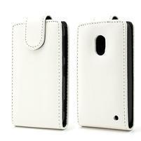 Flipové puzdro na Nokia Lumia 620- biele