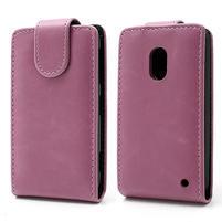 Flipové puzdro na Nokia Lumia 620- růžové