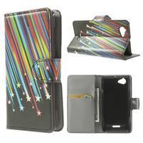 Peňaženkové puzdro pre Sony Xperia L C2105 - meteor