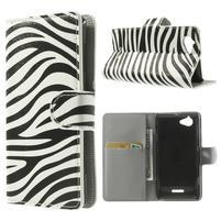 Peňaženkové puzdro pre Sony Xperia L C2105 - zebrovité