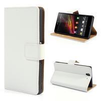 Peňaženkové puzdro pre Sony Xperia Z L36i C6603- biele