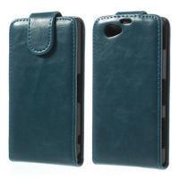 Flipové puzdro na Sony Xperia Z1 Compact D5503- modré