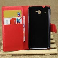 Peňaženkové puzdro pre HTC Desire 601- červené