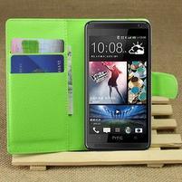Peňaženkové puzdro pre HTC Desire 601- zelené