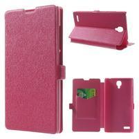 Peňaženkové puzdro na Xiaomi Hongmi Note- růžové