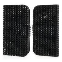Čierné puzdro pre Samsung Galaxy S3 mini / i8190 - kamínkové