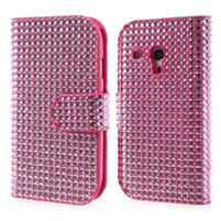 Růžové puzdro pre Samsung Galaxy S3 mini / i8190 - kamínkové