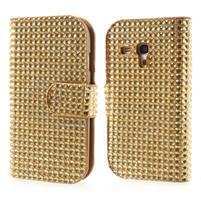 Zlaté puzdro pre Samsung Galaxy S3 mini / i8190 - kamínkové