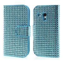 Modré puzdro pre Samsung Galaxy S3 mini / i8190 - kamínkové