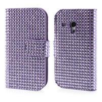 Fialové puzdro pre Samsung Galaxy S3 mini / i8190 - kamínkové