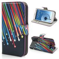 Peňaženkové puzdro na Samsung Galaxy S3 i9300- meteor