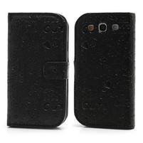 Peňaženkové puzdro pre Samsung Galaxy S3 i9300- čierné