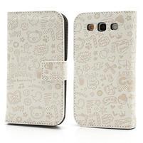 Peňaženkové puzdro pre Samsung Galaxy S3 i9300- biele