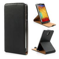 Flipové kožené puzdro na Samsung Galaxy Note 3- čierné