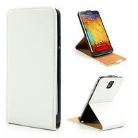 Flipové kožené puzdro pre Samsung Galaxy Note 3- biele