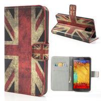 Peňaženkové  puzdro na Samsung  Galaxy Note 3- UK vlajka
