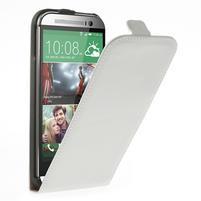 Flipové puzdro pre HTC one M8- biele