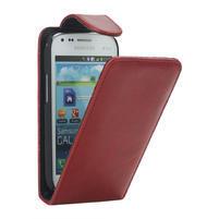 Flipové puzdro pre Samsung Trend plus, S duos- červené
