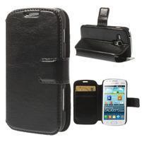 Peňaženkové puzdro na Samsung Trend plus, S duos - čierné