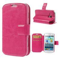 Peňaženkové puzdro na Samsung Trend plus, S duos - růžové