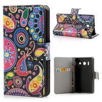Peňaženkové puzdro na Huawei Ascend Y300- farebné vzory