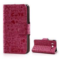 Peňaženkové puzdro na Huawei Ascend Y300- růžové