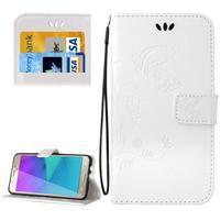 Magicfly PU kožené puzdro na Samsung Galaxy J5 (2016) - biele