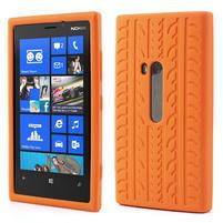 Silikonové PNEU puzdro na Nokia Lumia 920- oranžové