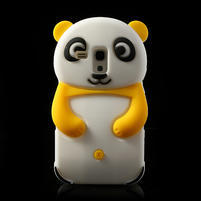 3D Silikonové puzdro pre Samsung Galaxy S3 mini / i8190 - vzor žltá panda