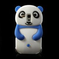 3D Silikonové puzdro pre Samsung Galaxy S3 mini / i8190 - vzor modrá panda