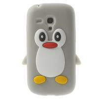 Silikonový tučniak puzdro pre Samsung Galaxy S3 mini i8190- šedý