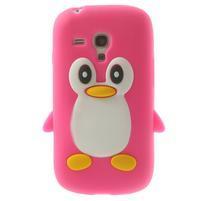 Silikonový TUČŃÁK puzdro na Samsung Galaxy S3 mini i8190- růžový