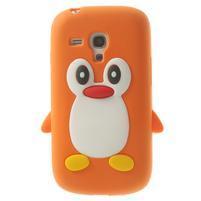 Silikonový tučniak puzdro pre Samsung Galaxy S3 mini i8190- oranžový