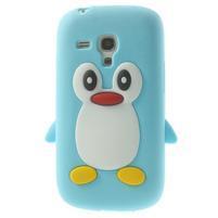 Silikonový tučniak puzdro pre Samsung Galaxy S3 mini i8190- svetlomodrý